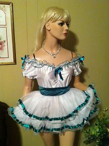 Southern Belle Style Adult Sissy Baby Doll Full Circle Costume Dress Look