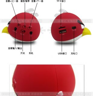Angry Birds Mini Portable Speaker for MP3 MP4 iPod Laptop etc Five Colors