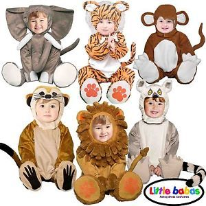 Deluxe Boys Girls Baby Toddler Kids Animal Zoo Fancy Dress Halloween Costume