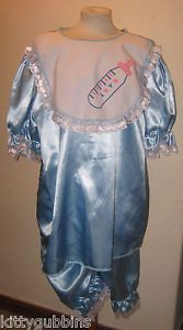 Adult Baby Boy Silky Role Play Panto Carnival Fancy Dress Costume Large Sz