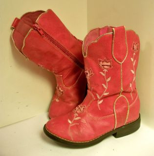 Pink Cowboy Boots Girls Sz 11 Circo Western Cowgirl Boots Halloween Costume