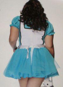 Sexy Sissy Alice in Wonderland Adult Baby Bow Tutu Costume Dress Plus 1x 2X