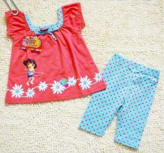 Girl Princess Dora Dress Shorts Skirt Pants 1 5Y Kids Top Costume Fairy 2pcs