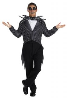 Jack Skellington Adult Standard Size Costume XL 42 46