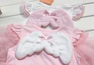 Baby Girls Kids Angel Dress Top and Chiffon Skirt Tutu Costume Outfit Clothes