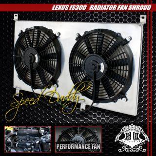 Aluminum 10 Blade Cooling Radiator Bolt on Fan Shroud 01 05 Lexus IS300 Altezza