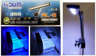 Hidom Aquarium LED Light Clip on Overhead Fish Tank Lamp Lighting Black New