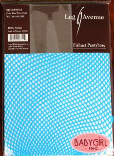 Leg Avenue Neon Blue Fishnet Tights Pantyhose Halloween Fishnets O S