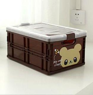 Cartoon Plastic Folding Organizer Storage Box K8009