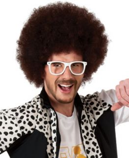 LMFAO DJ Redfoo Brown Halloween Costume Wig Accessory