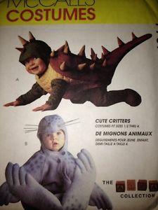 McCalls Sewing Pattern 7767 Baby Toddler Costumes Seal Crawladon 1 2 2 Uncut