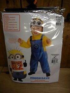 Minion Despicable Me 2 Halloween Costume Dave Boys Girls Size 6 12 Month Infant