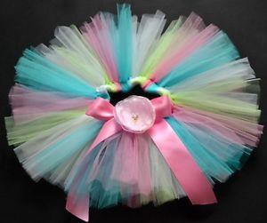 Rainbow Party Costume Ballet Dancing Girl Toddler Child Baby Tutu Skirt 6 12 M