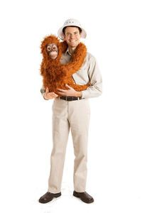 Orangutan Baby Ape Hand Puppet Fake Arm Shirt Funny Halloween Adult Costume