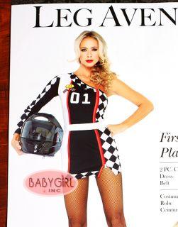 Leg Avenue Women's Adult NASCAR Race Car Driver Costume Dress Belt M L