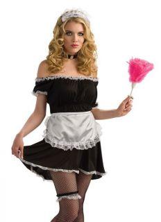 Rubie's Baby Doll Sissy French Maid Mini Dress Gothic Lolita Costume Top M L XL
