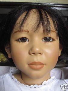 "30"" Michiko Doll Annette Himstedt World Child Collection 1988 Vinyl Cloth"