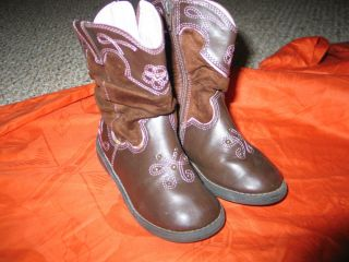 Circo Brown Cowgirl Boots Sz 8 Toddler Boots