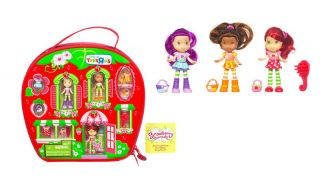 Strawberry Shortcake Orange Blossom Plum Pudding Berry House Case Playset