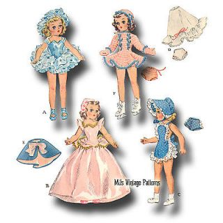"14"" Mary Hoyer Toni Betsy McCall Vintage Doll Pattern Ballerina Skating"