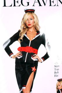 4 PC Sexy Sultry Sailor Girl Pinup Halloween Costume s M