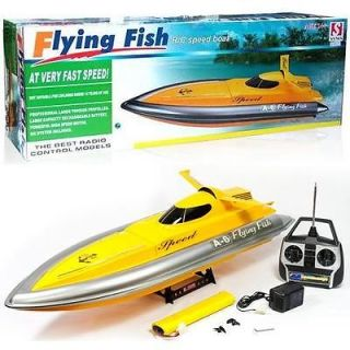 """Double Horse 38"""" Flying Fish Racing Speed Boat RC Remote Control SHIP EP BA6 New"""