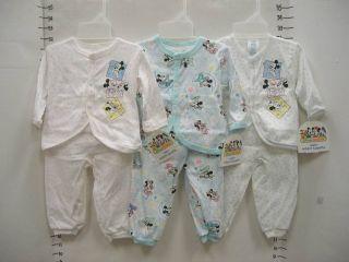 Dundee Disney 2pc Baby Infant Newborn Sleepwear Layette Set Mickey Minnie Mouse