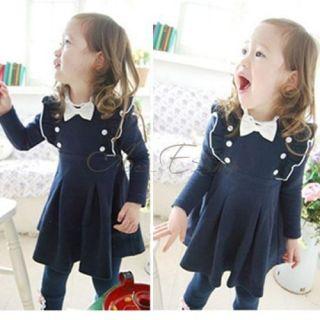 Girls Kid 1 Pcs Dress Tutu Skirt Size 4T Clothing Cotton Costume Long Sleeve