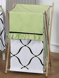 Sweet JoJo Baby Kids Clothes Laundry Hamper Green Black White Princess Bedding