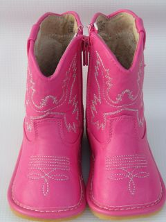 Squeaky Boots for Toddlers Hot Pink Cowgirl Boots Sizes 1 2 3 4 5 6 7