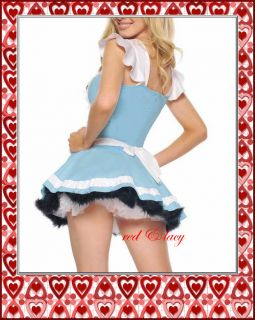 Sexy Ladies Womens Adult Halloween Alice Wonderland Cinderella Princess Costume
