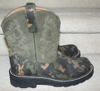 Ariat Fatbaby Fat Baby Women's Green Camo Sparkle Western Cowboy Boot 10B Rodeo