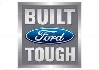 Ford Trucks Built Tough Logo Emblem 2 Flags Combo Deal 2 5' x 3 5' Banners
