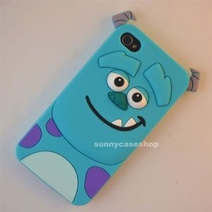 Cute Disney Cartoon Animal Sulley Soft Silicone Case Cover for Apple iPhone4S 4G
