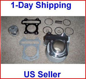 60cc Big Bore Kit Cylinder Head Piston Rings Set Chinese Scooter Moped Engine 50