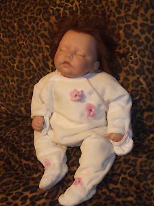 "Lee Middleton Doll Jane Pinkstaff Real Eyelashes Real Life Baby 17"" or Clothes"