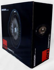 "Kicker 10CVT124 12"" Single 4 Ohm Shallow Mount Car Sub New CVT124 w Warranty"