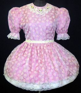 Pink Daisy Adult Baby Sissy Dress Leanne
