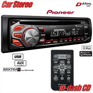 New Pioneer in Dash CD  Player iPod iPhone Car Stereo Radio w USB Aux In