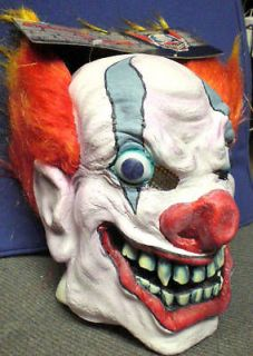 PMG Halloween Clownin' Around Evil Clown Latex Mask New