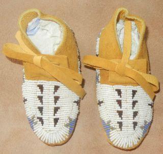 Native American LAKOTA Sioux Beaded Baby Moccasins