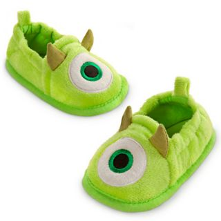 Mike Wazowski Slippers Shoes Baby Infant 0 2 yrs Disney Store Monster Inc