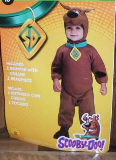 New Scooby Doo Toddler 3T 4T Childs Cartoon Halloween Costume