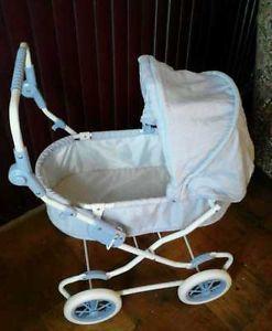 American Girl Bitty Baby Pram Doll Carriage Stroller GUC