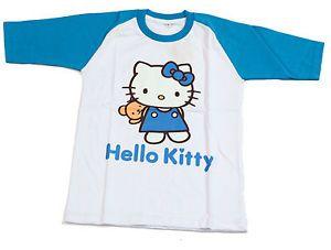 New Baby Toddler Kids Girls T Shirt Clothes Hello Kitty Summer Softball Design