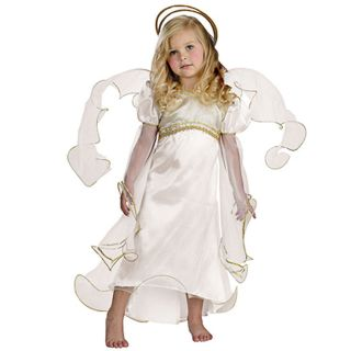 Guardian Angel Costume Toddler 3T 4T Girls Christmas Pageant Christian Wings New