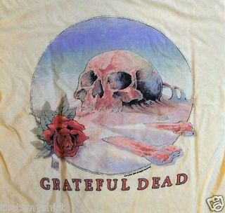 New Authentic Junk Food Grateful Dead Skull Roses Ladies T Shirt Size Large