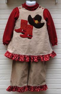 Bailey Boys 3 Pce Girl Cowgirl Boots Outfit 2 yrs 92 cm Set