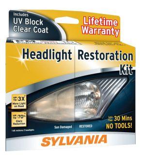 New Sylvania Headlight Restoration Kit Clear Bright Beam Polish Set 2DayShip