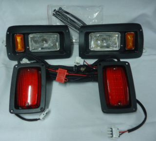 Club Car DS Golf Cart Adjustable Halogen Headlight Kit with LED Taillights